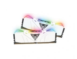 Kit Memoria RAM Patriot Viper RGB DDR4, 3000MHz, 16GB (2 x 8GB), Non-ECC, CL15, XMP, Blanco