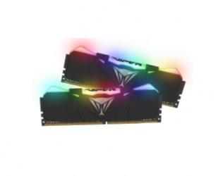 Kit Memoria RAM Patriot Viper RGB DDR4, 3200MHz, 16GB (2 x 8GB), Non-ECC, CL16, XMP, Negro
