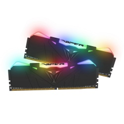 Kit Memoria RAM Patriot Viper RGB DDR4, 4000MHz, 16GB (2 x 8GB), Non-ECC, CL19, XMP
