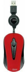 Mini Mouse Perfect Choice Óptico Easy Line 993353, Alámbrico, USB, 1000DPI, Rojo