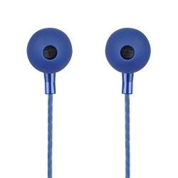 Perfect Choice Audífonos Intrauriculares con Micrófono Stretto, Alámbrico, 1.2 Metros, 3.5mm, Azul