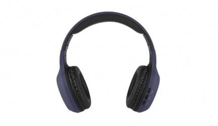 Perfect Choice Audífonos con Micrófono PC-116769, Bluetooth, Inalámbrico, USB, Negro/Azul