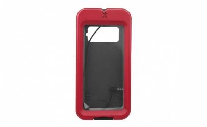 Perfect Choice Funda para Celular PC-332695 con Montaje para Bicicleta, Universal, Negro/Rojo