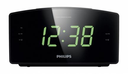 Philips Radio Despertador AJ3400/37, FM, Negro