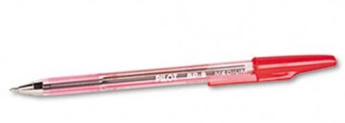 Pilot Bolígrafo Better Ballpoint Stick Pen, Punto Mediano, Paquete de 12 Piezas, Rojo