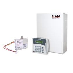 PIMA Kit de Alarma de 6 Zonas H6-RXN400-H, Inalámbrico/Alámbrico, incluye Panel/Teclado/Gabinete/Radio/Antena