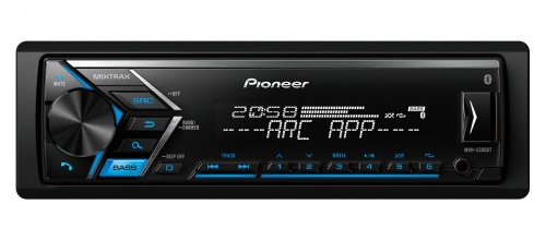 Pioneer Autoestéreo MVH-S305BT, MP3/AUX/USB, Negro
