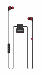 Pioneer Audífonos Intrauriculares con Micrófono ClipWear Active, Inalámbrico, Bluetooth, Negro/Rojo