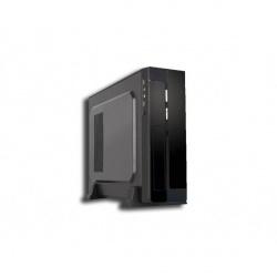 Gabinete Slim PIXXO CM-01R2, micro-ATX, USB 2.0, con Fuente de 450W, Negro