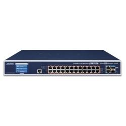 Switch Planet Gigabit Ethernet GS-6320-24UP2T2XV, 24 Puertos 10/100/1000Mbps + 2 Puertos 10GBASE-T + 10G SFP+, 128Gbit/s, 16.000 Entradas - Gestionado