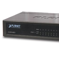 Switch Planet Gigabit Ethernet GSD-803, 8 Puertos 10/100/1000Mbps, 16 Gbit/s, 8000 Entradas