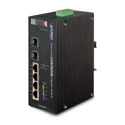 Switch Planet Gigabit Ethernet IGS-624HPT, 4 Puertos 10/100/1000Mbps + 2 Puertos SFP, 12 Gbit/s, 1000 Entradas - No Administrable
