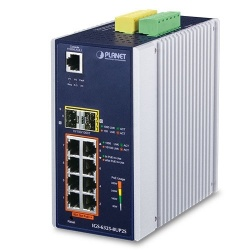 Switch Planet Gigabit Ethernet IGS-6325-8UP2S, 8 Puertos 10/100/1000Mbps + 2 Puertos SFP, 16.000 Entradas - Gestionado