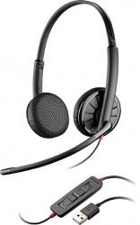 Plantronics Audífonos con Micrófono Blackwire Binaural C325, Alámbrico, USB, Negro
