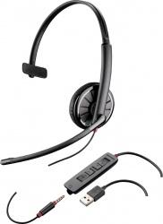 Plantronics Audífono Monoaural Blackwire C315-M, Alámbrico, 3.5mm, USB, Negro