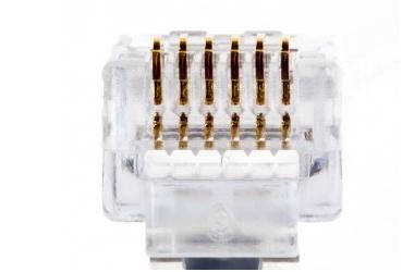 Platinum Tools Conector EZ-RJ12/RJ11, Transparente, 100 Piezas