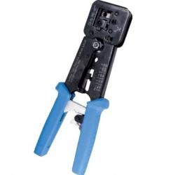 Platinum Tools Pinzas Ponchadoras EZ-RJ HD, RJ-11/RJ-12/RJ-45, Negro/Azul