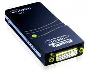 Plugable Adaptador USB 2.0 Hembra - DVI Hembra, Negro