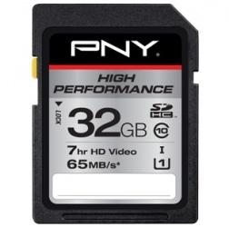 Memoria Flash PNY High Performance, 32GB SDHC UHS-I Clase 10