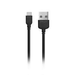 PNY Cable USB 2.0 A Macho - micro USB 2.0 A Macho, 1.8 Metros, Negro