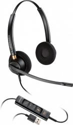 Poly Audífonos EncorePro HW525, Alámbrico, USB, Negro