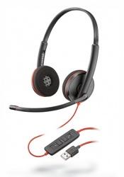 Poly Audífonos Blackwire 3225, Alámbrico, DECT, USB-A, Negro