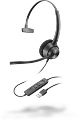 Poly Monoaural EncorePro 310, Alámbrico, USB, Negro
