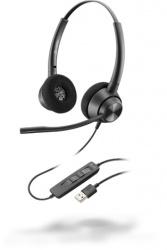 Poly Auriculares EncorePro 320, Alámbrico, USB A, Negro