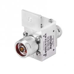 PolyPhaser Protector Coaxial con Ceja Frontal, Clase N RF Hembra - RF Hembra, Acero Inoxidable