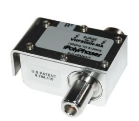 PolyPhaser Protector Coaxial RD de Banda Ancha, Clase N RF Macho - RF Hembra, Acero inoxidable