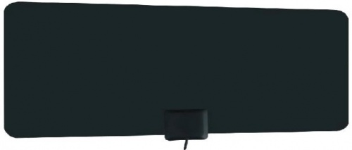 Power & Co Antena de Television HD para Interiores HD Flat X100, UHF, Negro