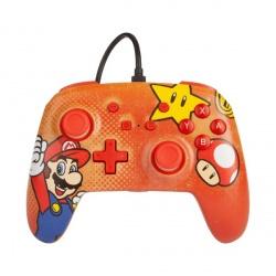 PowerA Control para Nintendo Switch Mario Vintage, Alámbrico, USB, Multicolor