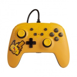 PowerA Control para Nintendo Switch Pikachu Pixel, Alámbrico, USB, Amarillo
