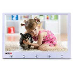 Provision-ISR Monitor CCTV LCD 9'' para Videovigilancia, 2 Canales, Blanco