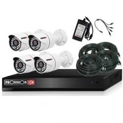 Provision-ISR Kit de Vigilancia PRO44AHDKIT de 4 Cámaras y 4 Canales, con Grabadora DVR