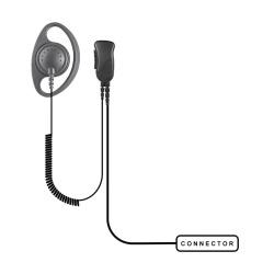 Pryme Micrófono para Radio SPM-1201, Negro, para Kenwood