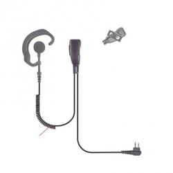 Pryme Micrófono con Solapa para Radio SPM-303EB, Negro, para Motorola