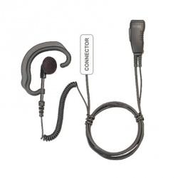 Pryme Micrófono con Solapa para Radio SPM-383EB, Negro, para Motorola