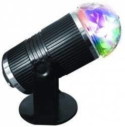 QFX Luces Giratorias DL-60, LED RGB, Negro