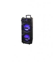 QFX Bafle SBX 213, Bluetooth, Inalámbrico, USB, Negro