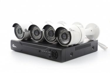 Qian Kit de Vigilancia de 4 Cámaras CCTV Bullet y 8 Canales, con Grabadora DVR