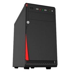 Gabinete Quaroni 92004CA, Midi-Tower, Micro-ATX/Mini-ITX, USB 2.0, con Fuente 400W, Negro/Rojo