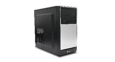 Gabinete Quaroni QCMT03, Tower, Micro-ATX/Mini-ITX, USB 2.0, con Fuente de 400W, Negro/Plata