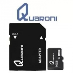 Memoria Flash Quaroni, 16GB MicroSDHC Clase 10, con Adaptador