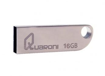 Memoria USB Quaroni QUF2-16G, 16GB, USB 2.0, Plata