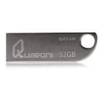 Memoria USB Quaroni QUF2-32G, 32GB, USB 2.0, Plata