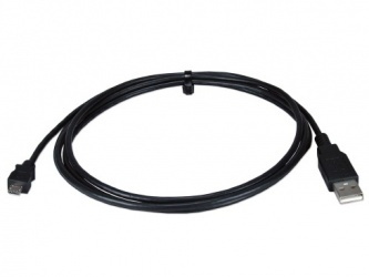 QVS Cable USB A Macho - micro USB B, 1 Metro, Negro
