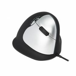 Mouse R-Go Tools Óptico R-Go HE, Alámbrico, USB, 2500DPI, Negro/Plata