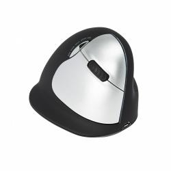 Mouse R-Go Tools Láser R-Go HE, Inalámbrico, Bluetooth, 1600DPI, Negro/Plata