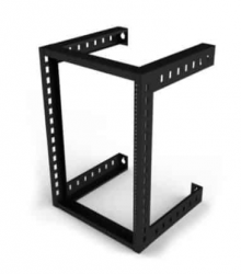 Racks & Cabs Rack Abierto de 18.5'' para Pared 10UR, hasta 200Kg, Negro